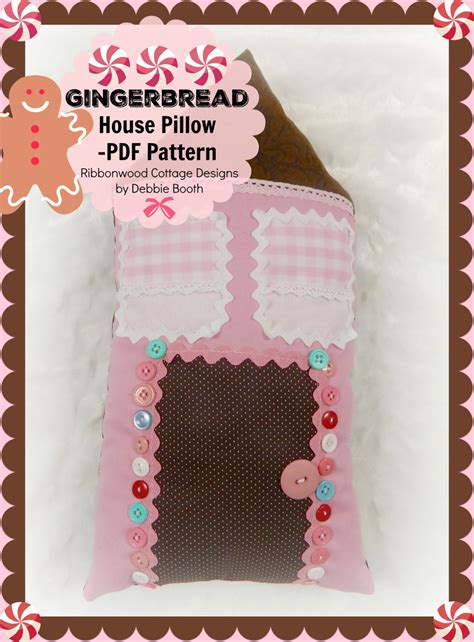 sewing pattern gingerbread house pillow pdf