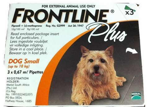 frontline puppy frontline plus 0 22 lb 3 doses quantity of 1 must dogs