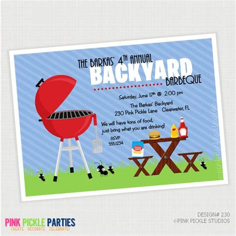 backyard party invitations 458 best birthday invitations images on pinterest birthday invitations card