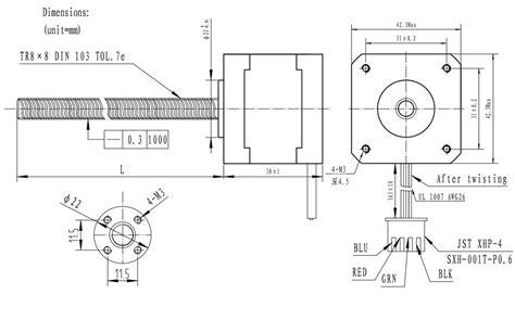 pololu stepper motor with 38cm lead bipolar 200