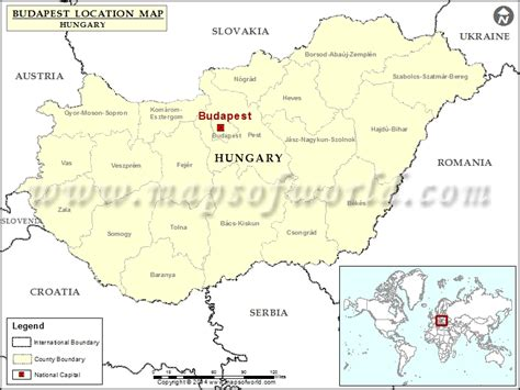 Where is Budapest   Location of Budapest in Hungary Map