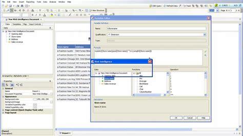 sap bo webi sle reports sap bo webi string and date function part 1