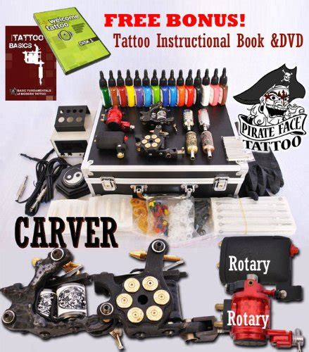 tattoo equipment and supplies carver kit with 4 machine guns and power supplies