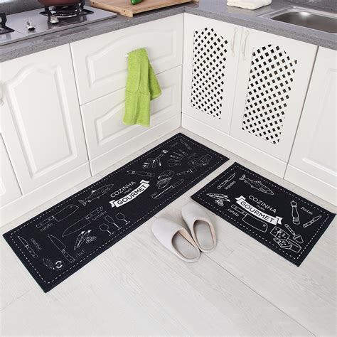 doormat and runner set carvapet 2 non slip kitchen mat rubber backing