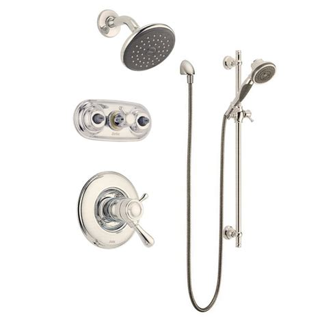 Clearance Kitchen Faucets faucet com leland monitor 17 series shower package ss in