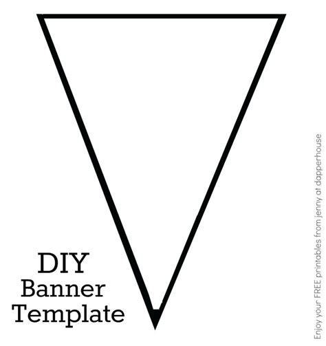 Triangle Template For Bunting Free Printable Triangle Banner Template