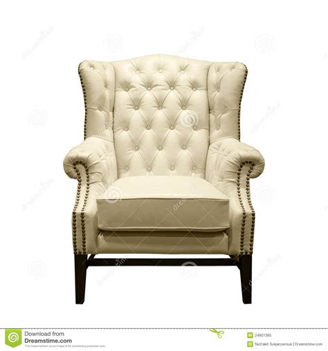white leather armchairs classic luxury white leather armchair royalty free stock photo image 24801385