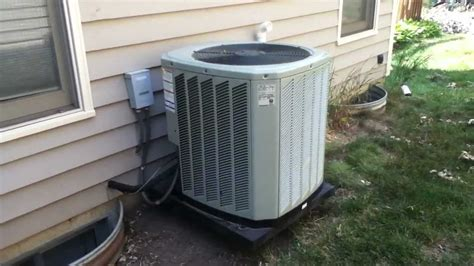 2010 trane xb13 air conditioner running