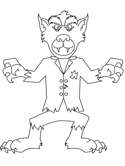 werewolf coloring pages online halloween coloring pages coloring pages to print