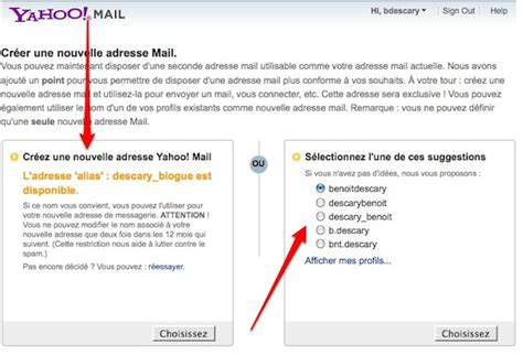 yahoo mail zweite email adresse les comptes yahoo mail offrent une deuxi 232 me adresse mail