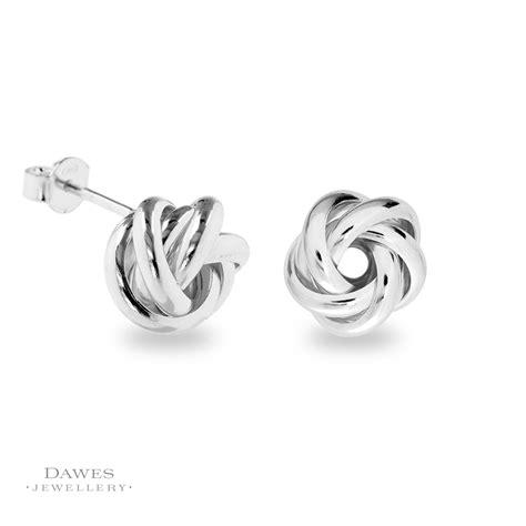 Knot Stud Earring fancy silver knot stud earrings dawes jewellery