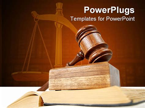 powerpoint templates for justice powerpoint template legal theme with judges gavel atop of
