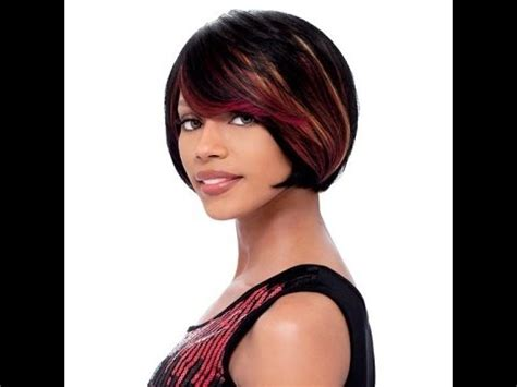 utube bump hair in a bob bob sensationnel bump human hair wig vogue crop wig