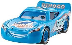 Lightning Mcqueen Blue Car Disney Pixar Cars Dinoco Lightning Mcqueen