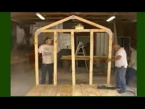 build  storage shed frame youtube