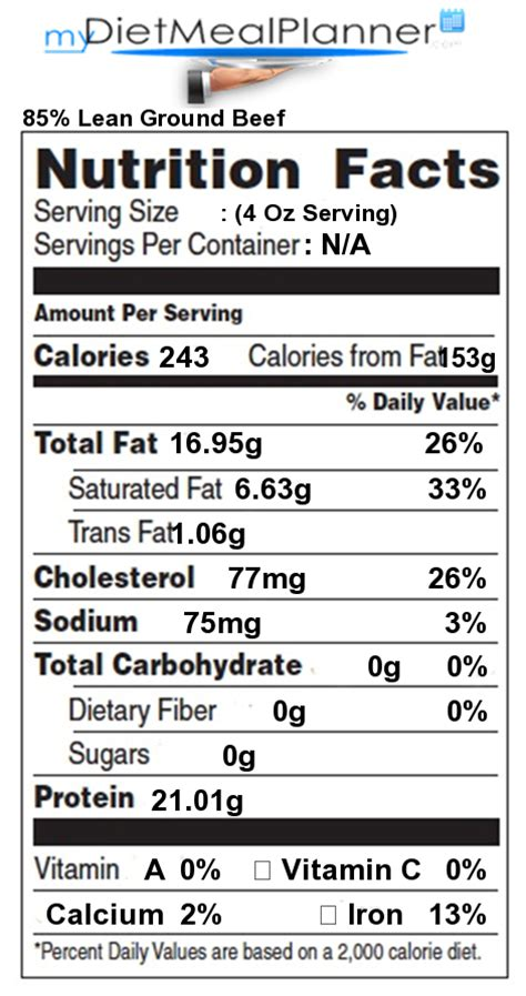 beef calories protein in 85 lean ground beef nutrition facts for 85 lean ground beef