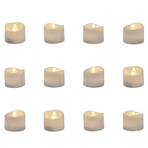 Homemory Battery Operated Led Tea Lights Pack Of Homemory Realistic And Bright Flickering Bulb Battery Operated Import It All