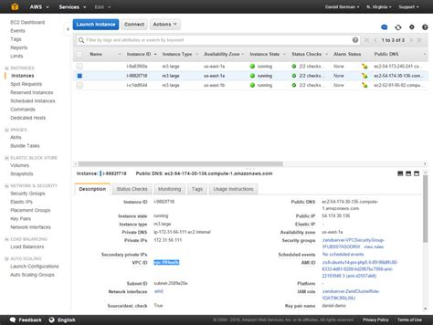 console ec2 running an elastic l stack on aws