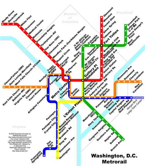 metro map washington d c metro map visual ly