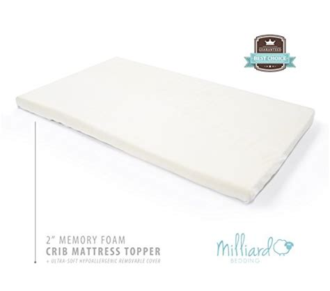 Memory Foam Mattress Topper Crib Milliard 2 Quot Ventilated Memory Foam Portable Crib Mattress Topper 24 Quot X38 Quot Baby Bedding Center