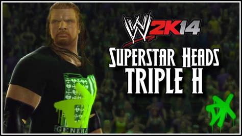 wwe 2k14 triple h wwe 2k14 superstar heads triple h dx attire we got 2