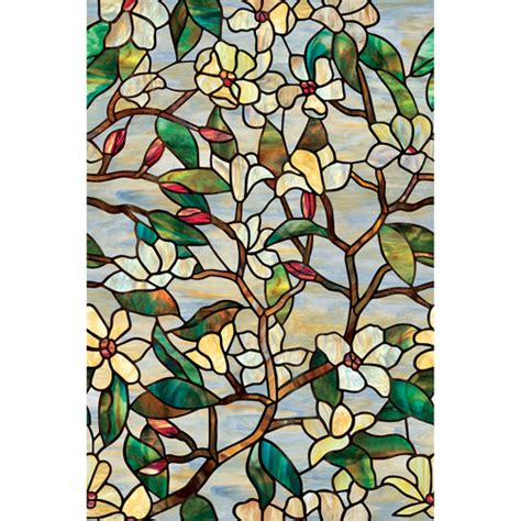 Decorative Window Decals For Home by Artscape Summer Magnolia Decorative Window Walmart