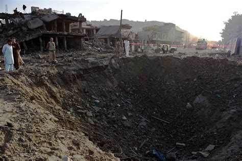 afghan news afghanistan violence deadly truck bomb leaves crater in