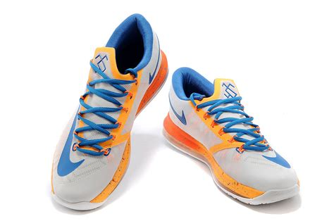 nike kd 6 vi elite home white orange blue mens for sale