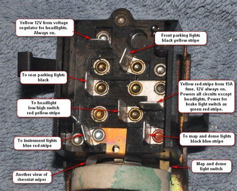 troubleshooting   headlight switch vintage thunderbird club international