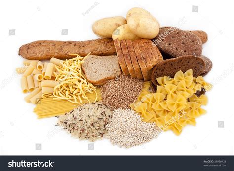 carbohydrates potatoes carbohydrate food isolated potato stock photo 56950423