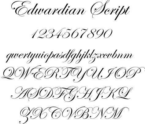 tattoo lettering edwardian script edwardian script fonts for engraving