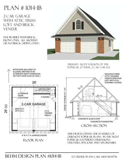 garage roof truss design free 2 car garage plans with loft woodworking projects
