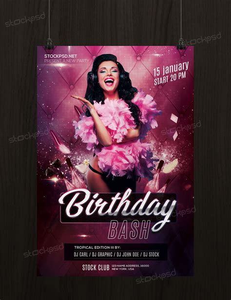 Free Birthday Bash Flyer Template Photoshop Flyershitter Com Bash Flyer Template
