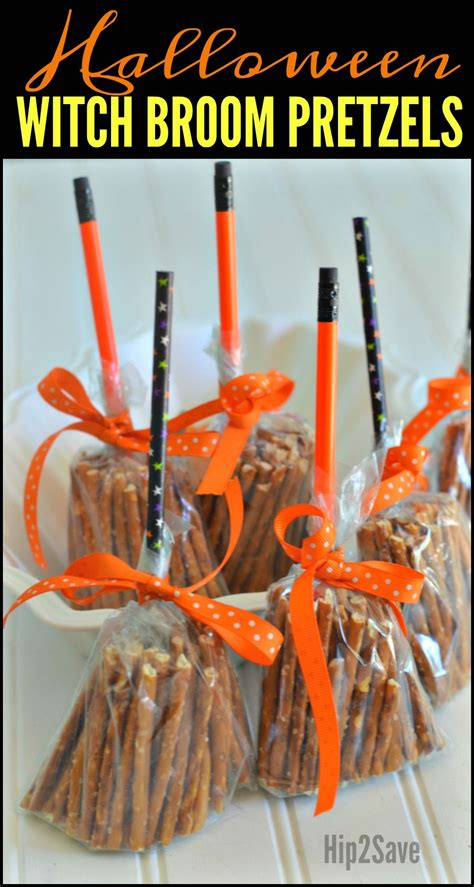 halloween themes for school create these cute broomsticks from pretzels easy non