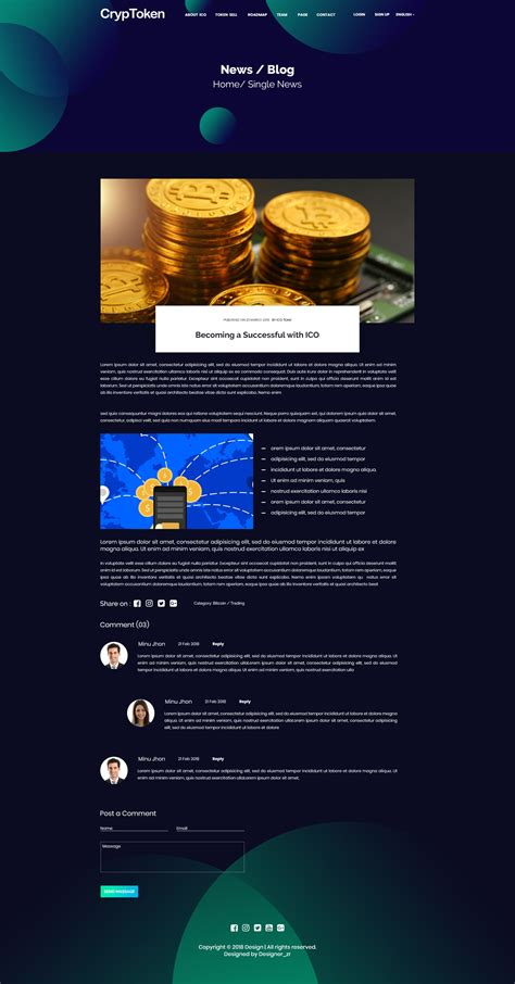 cryp token ico crypto currency psd landing template