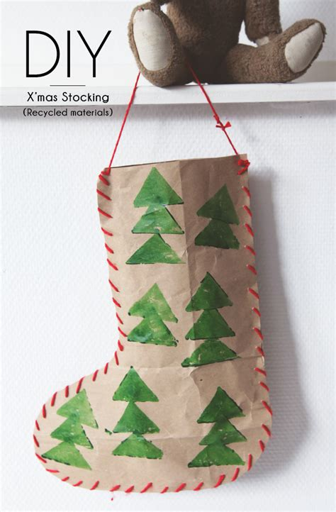 bloesem giving christmas craft diy christmas stocking