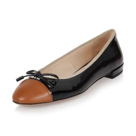 flat leather shoes prada black brown patent leather flat shoes made in
