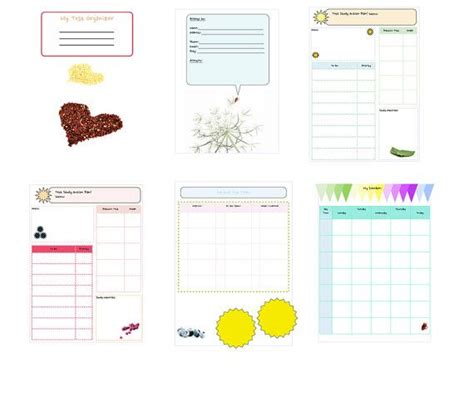 free printable exam planner 1000 images about agenda diy on pinterest snail mail
