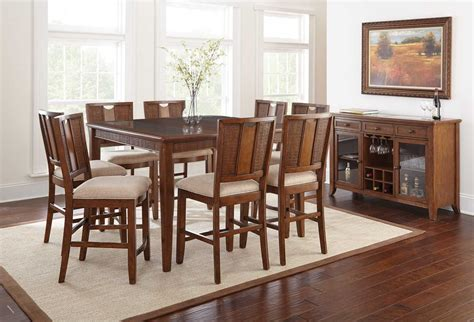 counter height dining room sets dining room sets glass