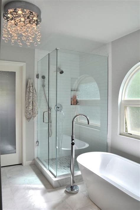 bathroom images  standing tub  glass enclosed