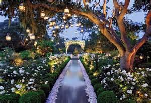 twilight solar outdoor lighting wedding day look enchanted garden affair belle the magazine