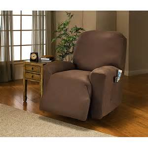 stretch leather like recliner cover taupe decor