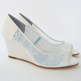 Lace Wedge Bridal Shoes by 25 Best Ideas About Wedge Wedding Shoes On