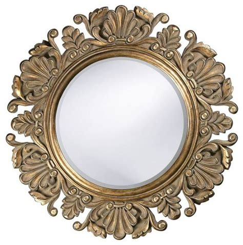 Oval Vases Nita Ornate Round Mirror Traditional Wall Mirrors By