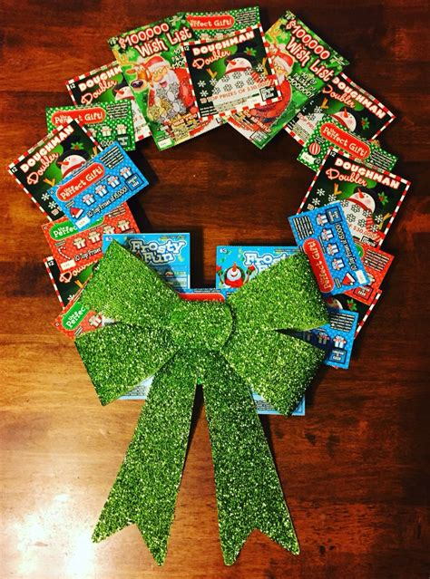 christmas trees decorated with scratch tickets pennsylvania lottery scratch ticket gift wreath gift ideas chris