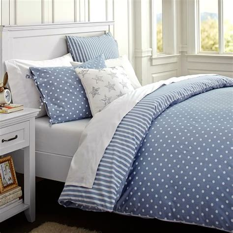 emily and meritt bedding the emily meritt chambray dottie duvet cover sham pbteen