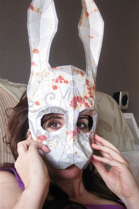 Splicer Mask Papercraft - splicer rabbitmask w blood by fademode on deviantart