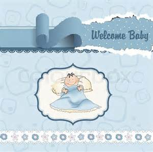 welcome new baby boy stock vector colourbox