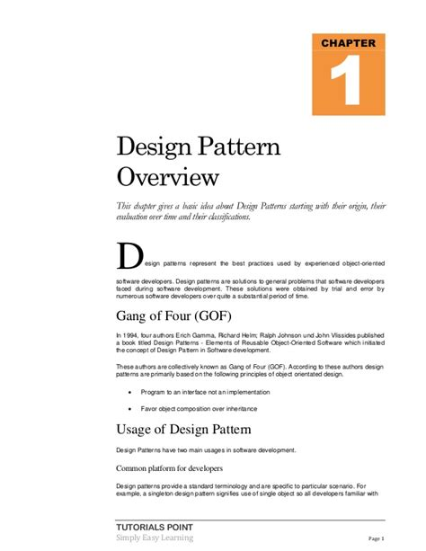 tutorialspoint design pattern design pattern tutorial