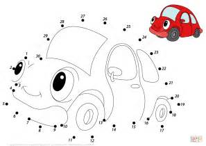 red car dot dot free printable coloring pages